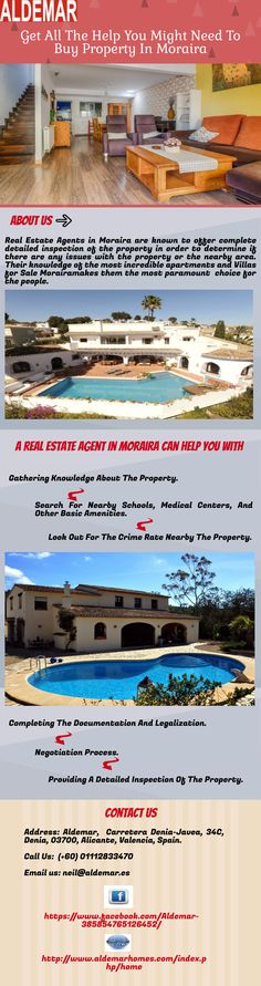 Real Estate Agents in Moraira are experienced and local, which ensures that they have complete knowledge about the weather and surroundings. They have good relations with dealers as well as authorities which can make the whole process less time-consuming.  For More info you can visit other website http://www.aldemarhomes.com/index.php/home