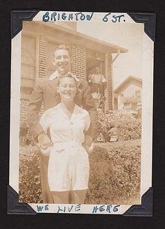 Belle and Larry, Brighton Beach 5th Street 1938