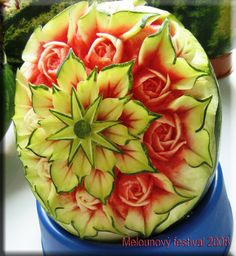 Amazing watermelon carving from the Melounovy Festival in 2008.