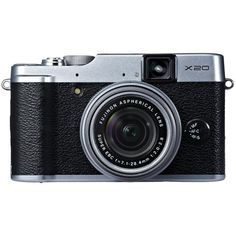 Fujifilm X20 Silver 12 Digital Camera with 2.8-Inch LCD (Silver) (€150) ❤ liked on Polyvore featuring camera, fillers, electronics, other and accessories