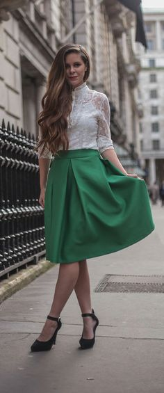 Full Midi Skirt with Box Pleats | style. | Pinterest | Cobalt blue ...