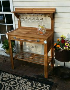 1000 images about potting bench bar on pinterest potting benches outdoor bars and towel bars for World market beer garden table