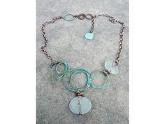 Patina Circles and sea glass