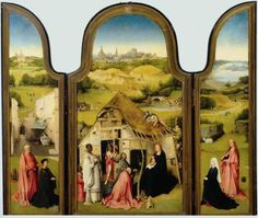 Hieronymus Bosch, Triptych of the Epiphany, c. 1495, oil on panel. Museo del Prado, Madrid