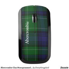 Abercrombie Clan Monogrammed Plaid Wireless Mouse