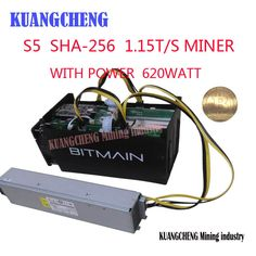 Item specifics     Brand:   Antminer Bitmain S5    Power Use (W):   590w     Model:   BTC MINER S5 1150G    Compatible Currency:   Bitcoin     Mining Hardware:   ASIC   PSU power:  ... - #Bitcoin, #BitcoinMiner, #BITCOINMININGCONTRACT