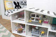 This Modern Life gives you their renovated Lundby Dollhouse in pictures http://thismodernlife.co.uk/blogs/news/16899576-our-lundby-dolls-house