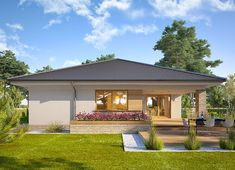 Projekt domu Bianka 114,50 m² - koszt budowy - EXTRADOM Cottage Plan, Gazebo, Outdoor Structures, Outdoor Decor, Home Decor, Home Plans, Room Decor, Pavilion, Home Interior Design