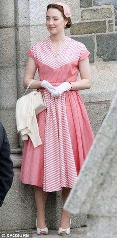 Saoirse Ronan in Brooklyn Wearing gorgeous 50's fashion.