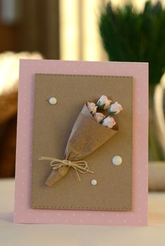 Pink bouquet card using SSS stitched rectangles die inspired by Natalia Koscova http://koscova-scrap.blogspot.ru/2015/02/blog-post_25.html #SSSFAVE