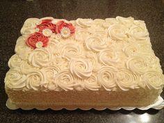 sheet+cake+ideas | Rosette Sheet Cake | Cake Ideas                                                                                                                                                                                 More