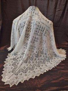 1ply Shetland Lace Shawl - Hand Knitted by a Scottish Nana from St. Andrews