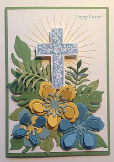 Botanical Blooms from Stampin' Up! with Crosses of Hope and Kinda Eclectic. Religious CrossEaster CardEaster