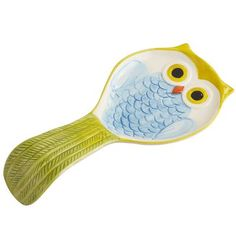 Owl Spoon Rest from Pier 1 imports. Saved to Kitchen. Shop more products from Pier 1 imports on Wanelo. Kitsch, Bed Organiser, Owl Kitchen, Kitchen Dishes, Kitchen Decor, Do It Yourself Organization, Ceramic Spoons, Owl Always Love You, Pottery Painting