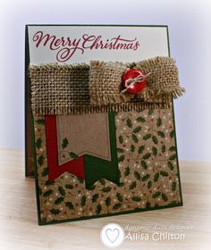 Image result for burlap on cards