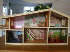 Dollhouse,Lundby/Lisa Denmark. Vintage Dollhouse. Restyled by Daan. moeder.de.gans@ziggo.nl