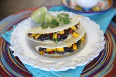 Black Bean and Mango Quesadillas from Our Best Bites- seriously I should have a board just for mango
