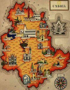 mappa di umbria