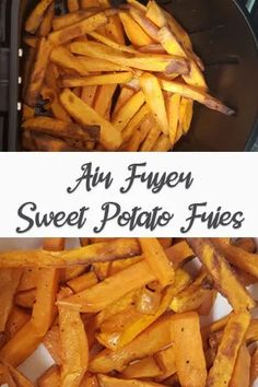 A really easy way to make healthy sweet potato fries in your air fryer.