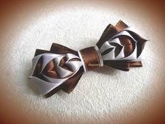DIY for school, bow for girl, satin ribbon, handmade - YouTube