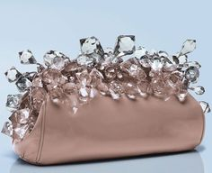 Prada ballet pink and crystal handbag clutch Prada Purses, Prada Bag, Prada Handbags, Purses And Handbags, Prada Clutch, Handbags Online, Fashion Bags, Fashion Accessories, Bijou Box