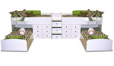 Berg Furniture Dual Twin over Twin Captains Bunk Bed Sleeps 4!  22-905 x 2 BK34937- Our price $3,380.00
