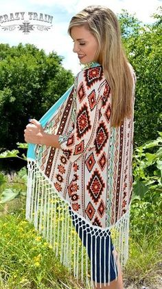 Beautiful light weight cardigan by:crazy train  cowgirl western wear with fringe