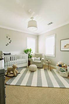 The HONEYBEE: Luca's Neutral Nursery - I like the area rug