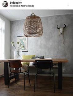 De Oude Bank - Betonlook Muur Home Living Room, Living Room Designs, Room Wall Colors, Grass Decor, Luxury Living, Modern Decor, Interior Inspiration, Sweet Home, New Homes