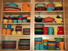 Fiestaware for everyday -- the more colors, the better! Not only is it pretty, the Homer Laughlin Company has great customer service and really stands behind their products. You'll have these beauties for life.
