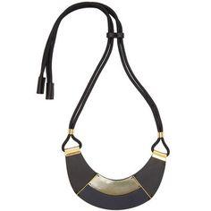 Marni Black Leather Necklace #TVFashion