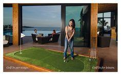 Golf In è un elegante complemento d'arredo creato per impreziosire ed arricchire di charme qualunque spazio: hall di uffici e alberghi, studi professionali, centri commerciali, case private, showrooms, golf clubs, pro-shops. Pagine 4 e 5 Brochure Golf In Green Makers.