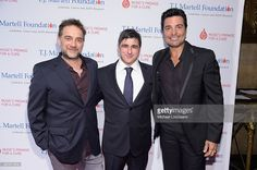 Musician Gabriel Vicentico, Chairman and CEO, Sony Music Entertainment Latin Iberia Afo Verde, and singer Chayanne attend the T.J. Martell Foundation's 39th Annual New York Honors Gala at Cipriani 42nd Street on October 21, 2014 in New York City.