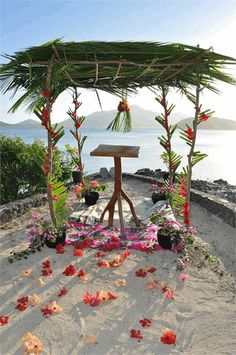 Choose from a private beach or secluded island location for your venue