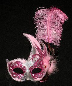 PINK MARDI GRAS VENETIAN  Mask Costume  MASQUERADE