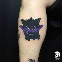Gengar tattoo done by @sj_tattoo. To submit your work use the tag #gamerink And don't forget to share our page too!  #tattoo #tattoos #tatuaje #tatuajes #ink #videogametattoo #gamertattoo #gamerink #videogames #gamer #gaming #anime #nintendo #gameboy #nds #3ds #nintendo3ds #gengar #pokemon #gengartattoo #pokemontattoo #nintendotattoo #animetattoo #otakutattoo