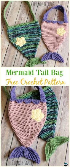 Mermaid Tail Bag Free Crochet Pattern - Crochet Kids Bags Free Patterns