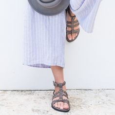 This leather sandal is full of personality. Like her namesake, this sandal is sassy, funky and always up for a great party. Global Charity, Used Tires, How To Make Shoes, Leather Sandals, Sassy, Personality, Two By Two, Footwear, Shopping