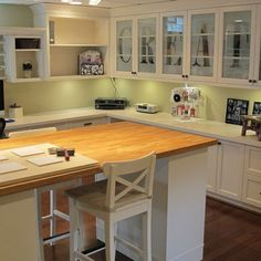 Scrapbooking Room - traditional - home office - detroit - Millennium Cabinetry