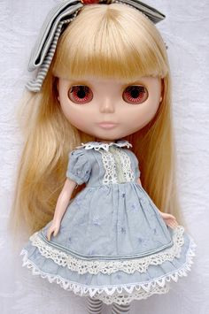 Alice in blue | Blythe clothes for dolls : tutorial : Kikihalb ♧ Forest~Tales ♧