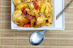 Sweet and Sour Cauliflower with Pineapple...going to try this!  It looks SO yummy!