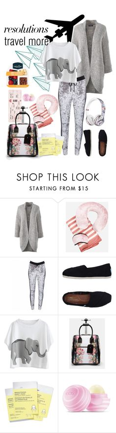 """""""#PolyPresents: New Year's Resolutions"""" by ingfreego ❤ liked on Polyvore featuring Lands' End, Ashley Stewart, Beats by Dr. Dre, OKAYLA, TOMS, Ted Baker, Avon, Eos, contestentry and polyPresents"""