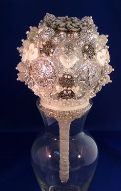 Crystal Baubles and Buttons Funky Wedding Bouquet