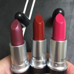 Authentic Mac lipsticks 3 for $40 New in box ( color / odyssey,dare you and Lickable    ) check my feedback before purchase all my make up is authentic. Thanks for looking and happy shopping MAC Cosmetics Makeup Lipstick