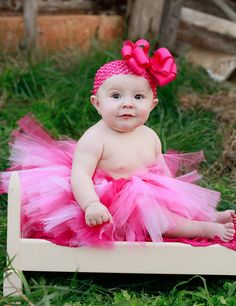 Pink Swirl Baby Tutu Skirt from www.PinkBowtique.com