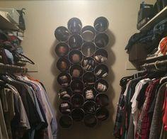 DIY de la pared del PVC del armario montado estante del zapato