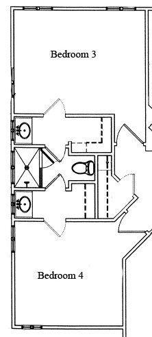 Jack And Jill Bathroom Design Ideas With Floor Plan Photos Similar Size Closets Wash Li Bathroom Floor Plans Jack And Jill Bathroom Jack N Jill Bathroom Ideas