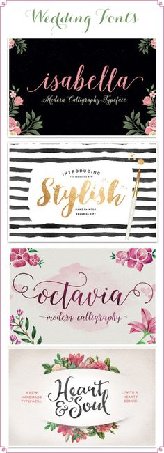 Some of my favorite fonts, all at Creative Market