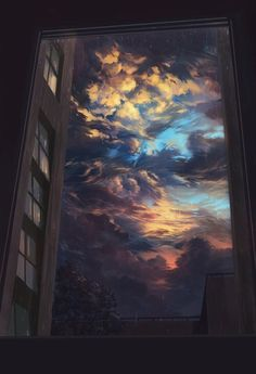 25 New ideas for fantasy art painting sky Aesthetic Iphone Wallpaper, Aesthetic Wallpapers, Sky Aesthetic, Korean Aesthetic, Animation Background, 80s Background, Anime Scenery, Art Paintings, Landscape Paintings