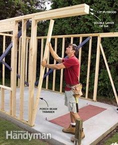 Here are complete DIY plans and instructions for building this 10-ft. x 12-ft. shed. It has double-doors for wide access, a covered entry and fiber-cement siding for low maintenance and durability. It also has style.